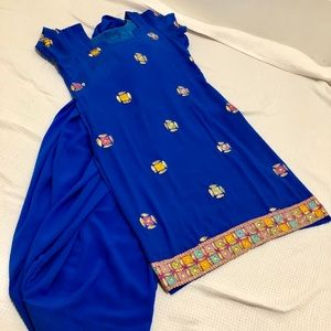 2 piece Royal blue color indian outfit ❣️🎉🎁