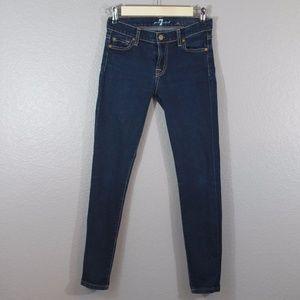 7FAM | dark wash skinny jeans