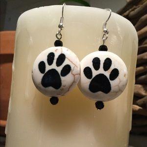 Dog Paws Earrings, Puppy Prints Earrings