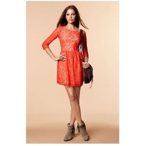 French Connection Lizzie Lace Dress Sz US 2
