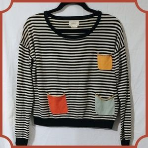 Stripped pocket top