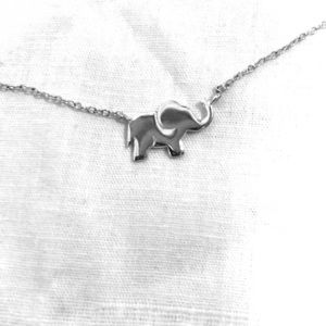 Elephant necklace .925 sterling silver
