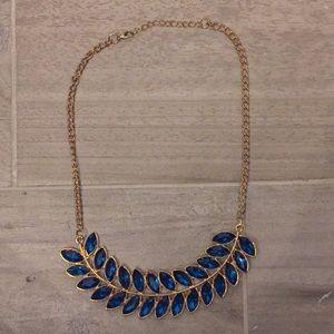 Statement Necklace with bluish-greenish stones