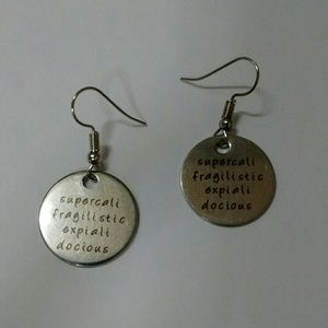Mary Poppins Silver Earrings