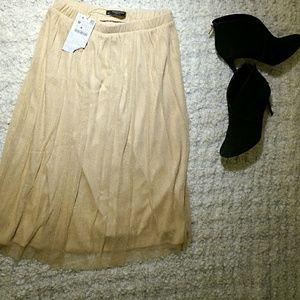 Zara sparkly gold skirt