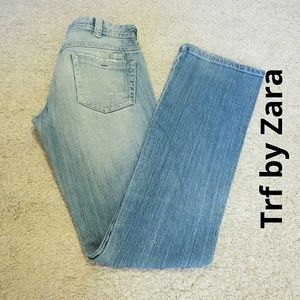 Trf by Zara Size 2 Stone Washed Boot Cut Jeans