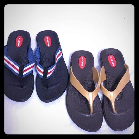 fc6aabe527f4a1 Okabashi Shoes - 🌟2 Pairs of Okabashi Flip Flops 🌟