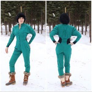 Vintage Jumpsuit Ski Season Rare sz Sm 🌺🌺🌺