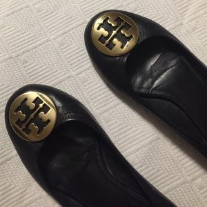 Tory Burch Reva Flat Black/Gold