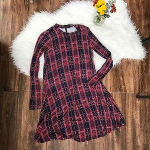 BCBG Max Azria • Jeanna Plaid Long Sleeve Dress