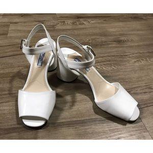 Prada patent leather round block heels size 37.5