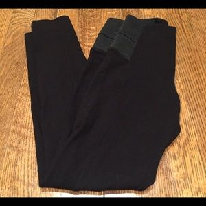 Zara Black Stretch Thick High Waisted Leggings