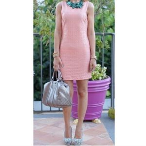 NWT H&M Pink/Peach Sequin Fitted Dress