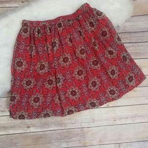Hollister Lined Floral Print Mini Skirt Boho NWT