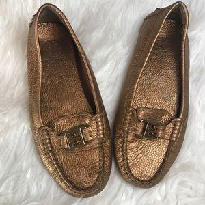 Tory Butch bronze Kendrick driving shoe
