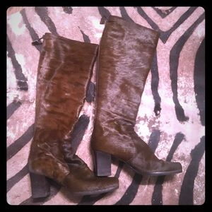 Estate YSL fur boots