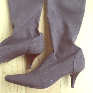 Cole Haan Brown Soft High Heeled Boots