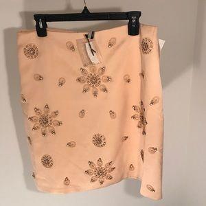 Beaded top shop skirt in peach