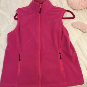 Vineyard Vines Pink Fleece Vest