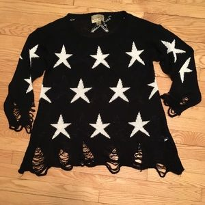[Wildfox] Seeing Stars Sweater Black
