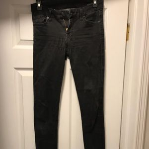 7 for all Mankind Skinny Faded Black Jeans