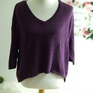 Sparkle and Fade Purple Pullover Size Medium
