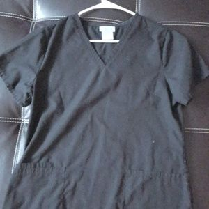 Black scrub top