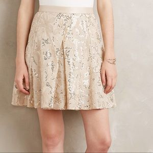 NWT Plenty Tracy Reese Gold Mezza Skirt Anthro 0