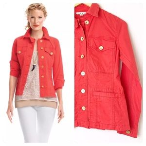 CAbi Taylor Jacket #727 Front Button Back Ruffles