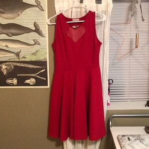 Red soprano fit and flare dress