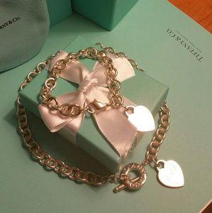 Tiffany & Co. Toggle Heart Necklace & Bracelet Set