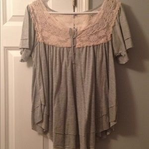 FP Lacey gray tshirt