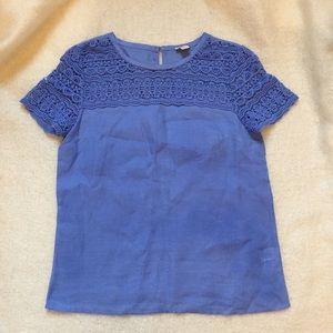 J. Crew Factory Linen Lace Shirt