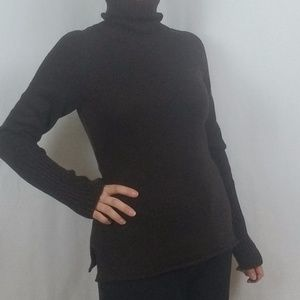 THE LIMITED BROWN TURTLENECK SWEATER