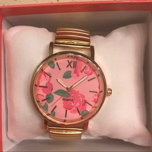 New in box Floral watch