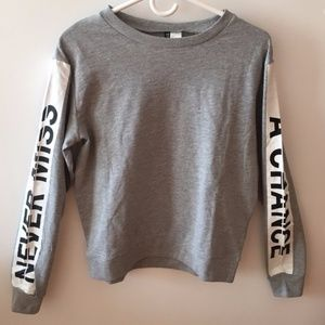 NEW H&M Never Miss A Chance Long Sleeve Tee