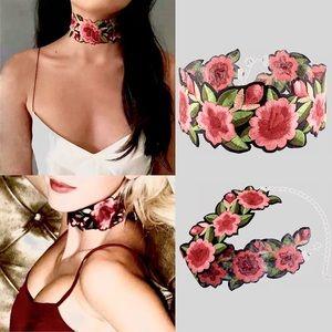 Jewelry - 🆕 Bohemian Rose Flower Embroidery Choker