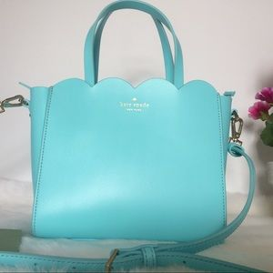 Kate Spade Small Leather Blue Satchel