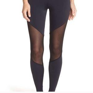 Onzie mesh track leggings. Purple & Black