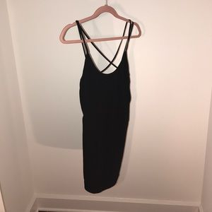 French Connection Black Simple Sexy Dress