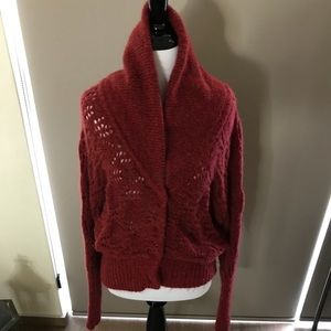 Free People Burgundy Sweater. Size small