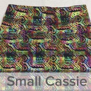 💊 LuLaRoe Cassie Skirt Neon Lights Small 💊