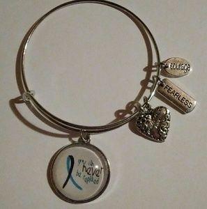 Jewelry - Suicide Awareness Silver Bangle Bracelet