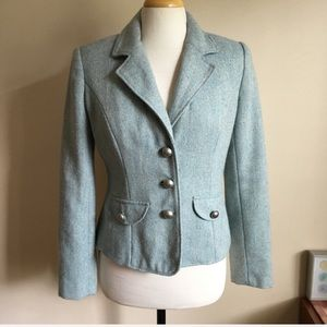 Merona Light Blue Military Style Jacket