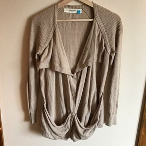 Sparrow Anthropologie Tan Cardigan Sweater