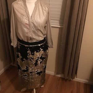 New with Tags H&M Sequence skirt - size xl