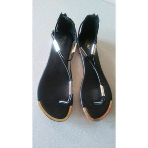 Mossimo Sandals Size 9 Black Gold