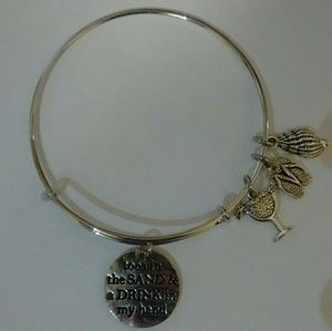 Jewelry - Toes Sand Drink Hand Silver Bangle Bracelet