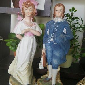 Lefton Blue boy and Pinkie