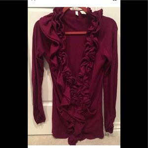 Anthropologie Moth Wine magenta sweater